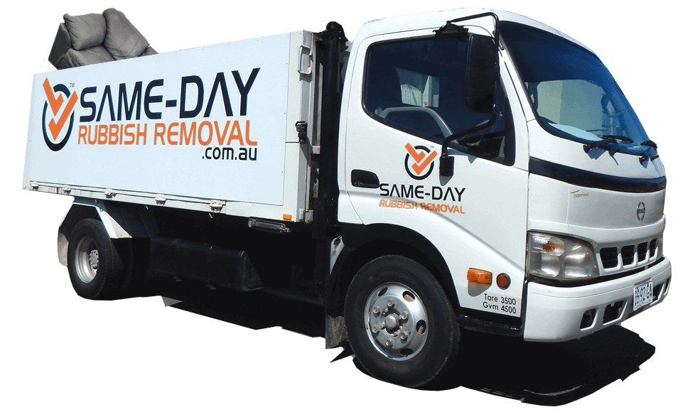 Same Day Rubbish Removal Truck with Couch