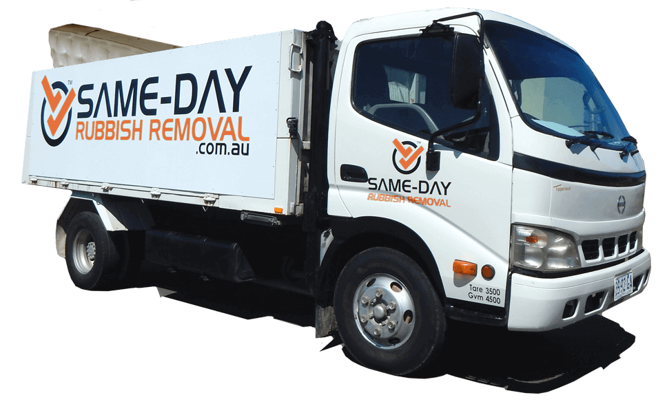 Same Day Rubbish Removal Truck & Mattress